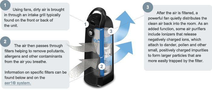 Air Purifier Working Mechanism Infographic