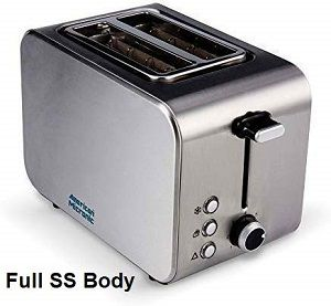 American Micronic AMI-TSS1-85Dx Stainless Steel Pop-up Toaster