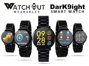 WatchOut Wearables DarK9ight Black Viper Smart Watch
