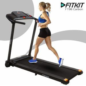Fitkit FT98 carbon Treadmill for home & Gym